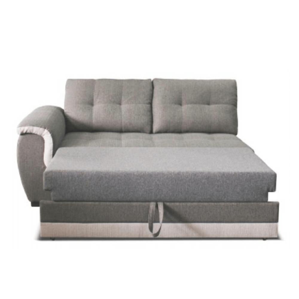 2-személyes kanapé nyitható funkcióval, balos, szövet Inari 91 szürke + Inari 22 bézs, RUBA