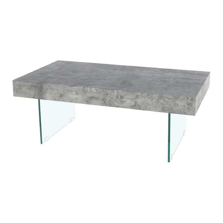 Konferenčný stolík so zásuvkou, betón, DAISY NEW, detail z predu