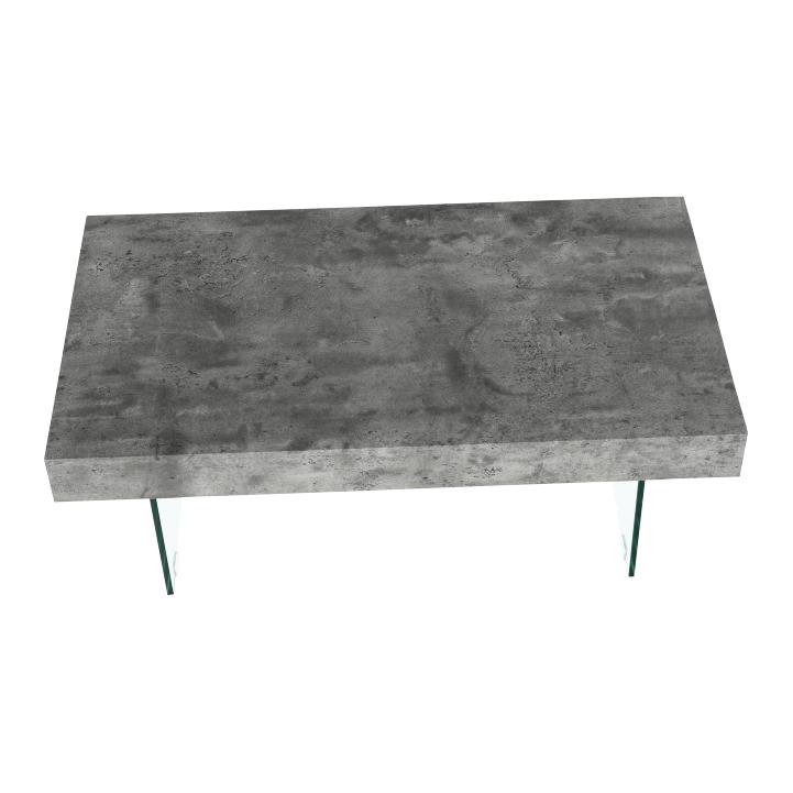Konferenčný stolík so zásuvkou, betón, DAISY NEW, detail z hora