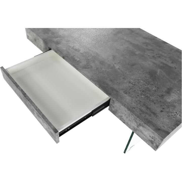 Konferenčný stolík so zásuvkou, betón, DAISY NEW, detail