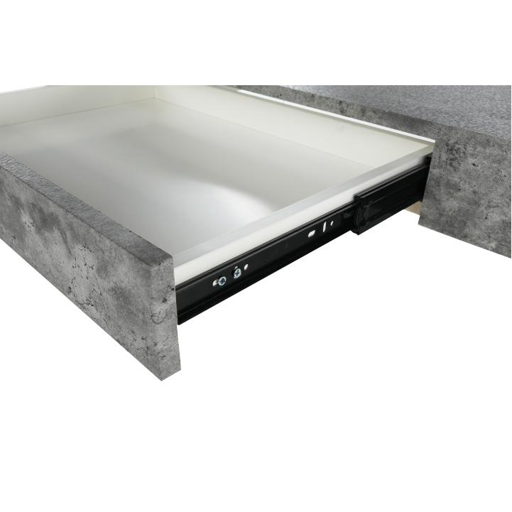 Konferenčný stolík so zásuvkou, betón, DAISY NEW, detail šuflíka