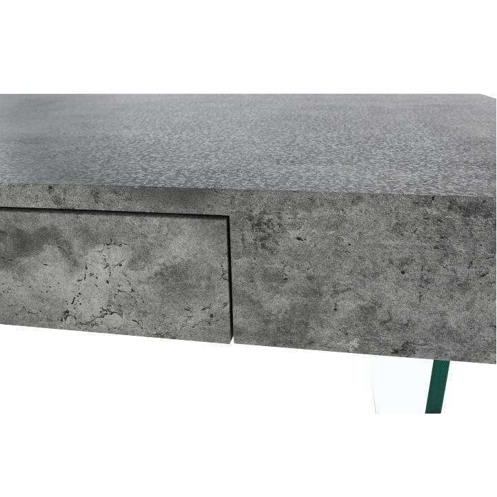 Konferenčný stolík so zásuvkou, betón, DAISY NEW, detail šuflíka z predu