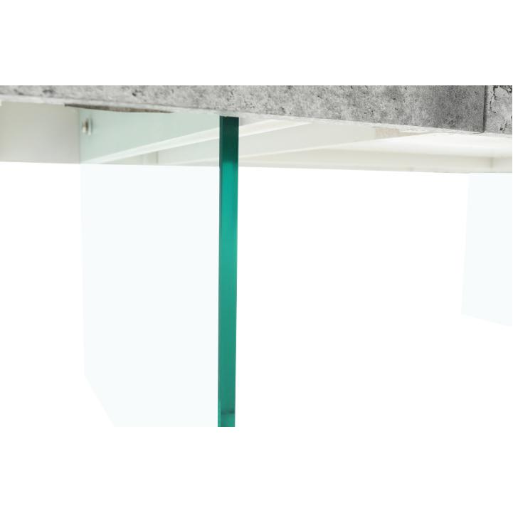 Konferenčný stolík so zásuvkou, betón, DAISY NEW, nožičky