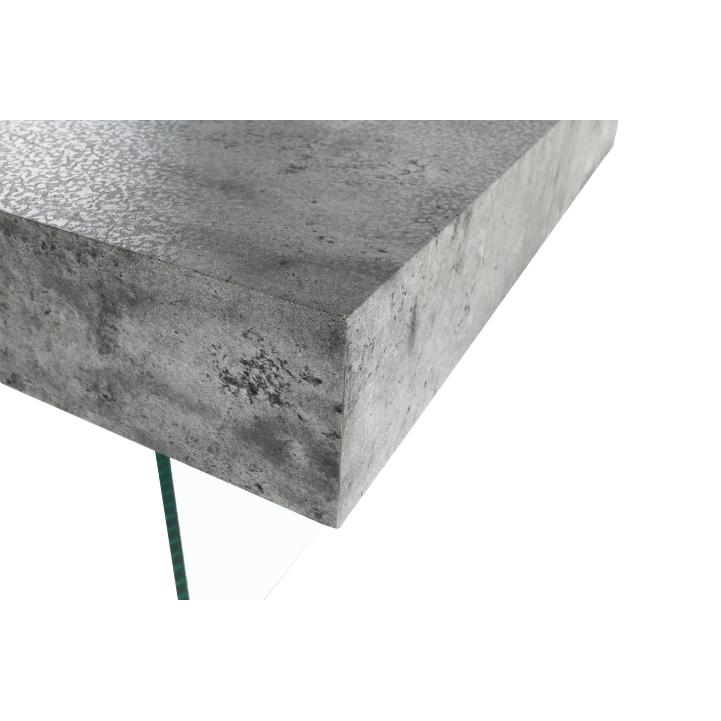 Konferenčný stolík so zásuvkou, betón, DAISY NEW, roh stolíka