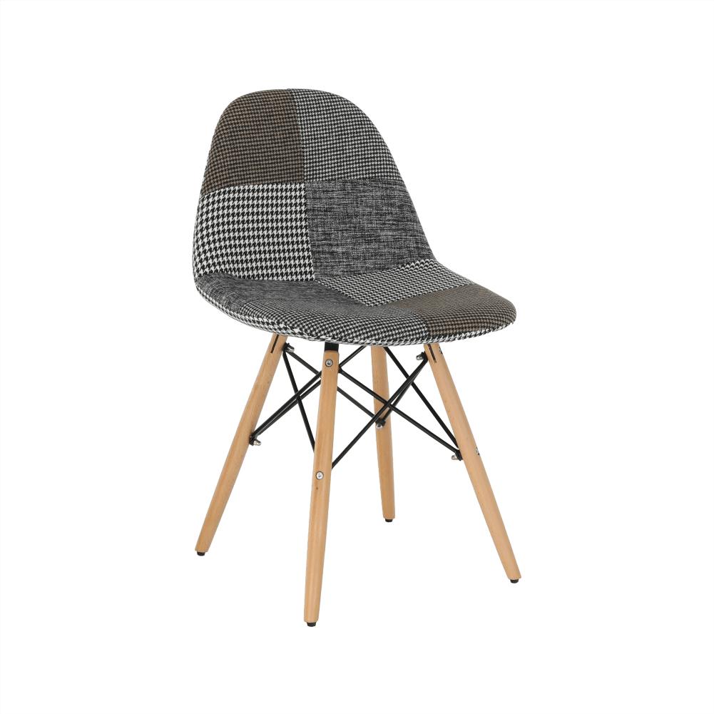 Scaun cu design modern, material patchwork, PEPITO Tip 9