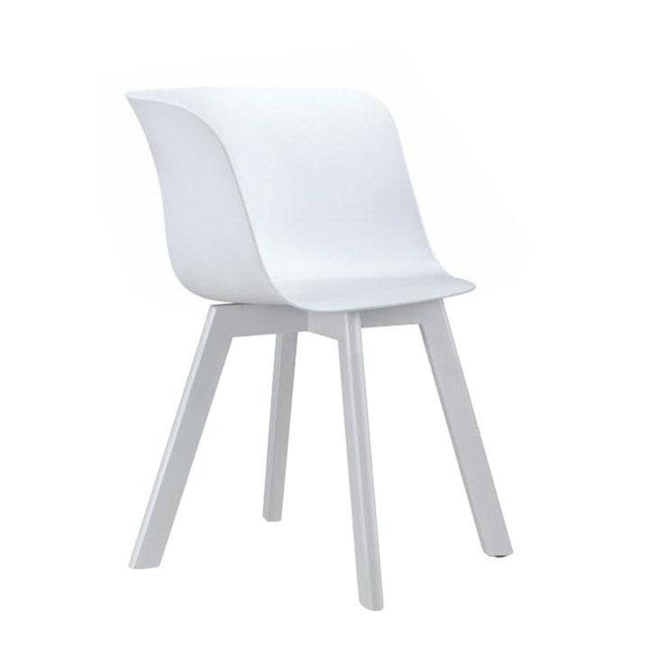 Stolička, biela/buk v bielej farbe, LEVIN