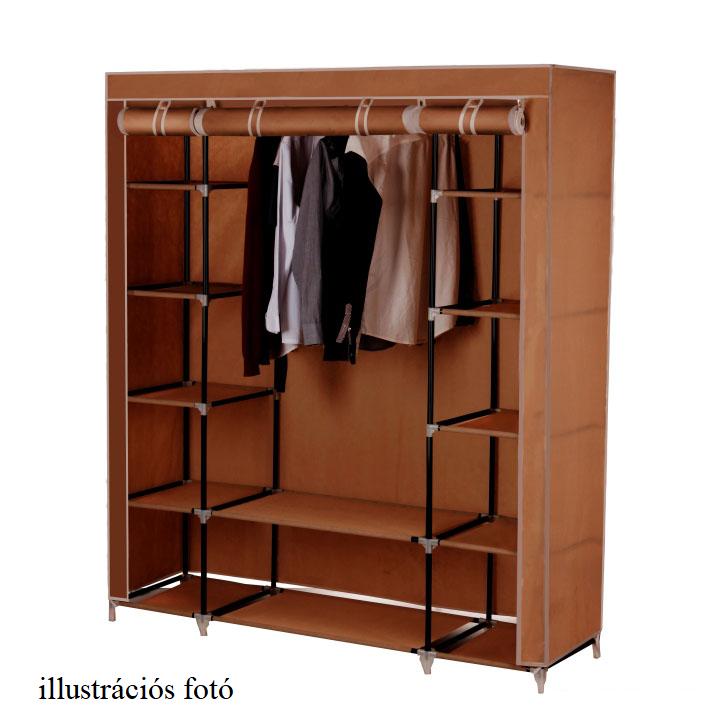 Szekrény szervező, anyag/fém, barna, METIN VNW15