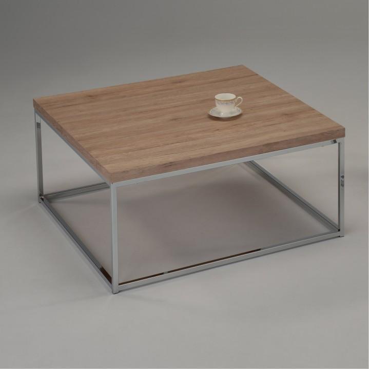 Konferenčný stolík, dub sonoma, chróm, NATANEL