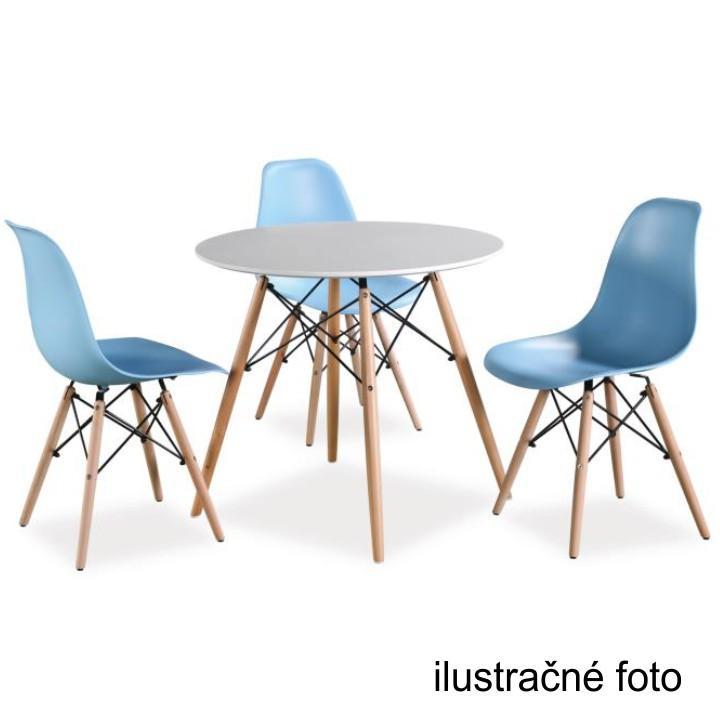 Stolička, tmavohnedá/buk, ilustračná fotka na bielom pozadí, CINKLA 2 NEW