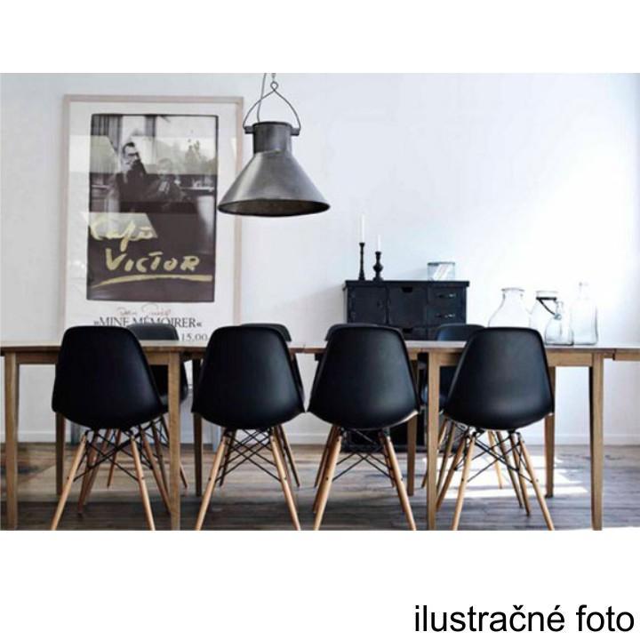 Stolička, tmavohnedá/buk, pohľad na stoličky zozadu, CINKLA 2 NEW