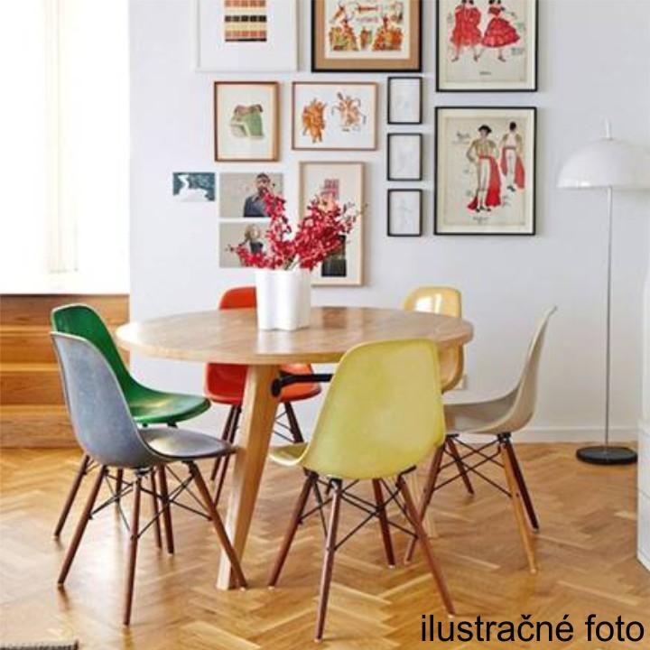 Stolička, tmavohnedá/buk, ilustračná fotka stoličiek v interiéri, CINKLA 2 NEW