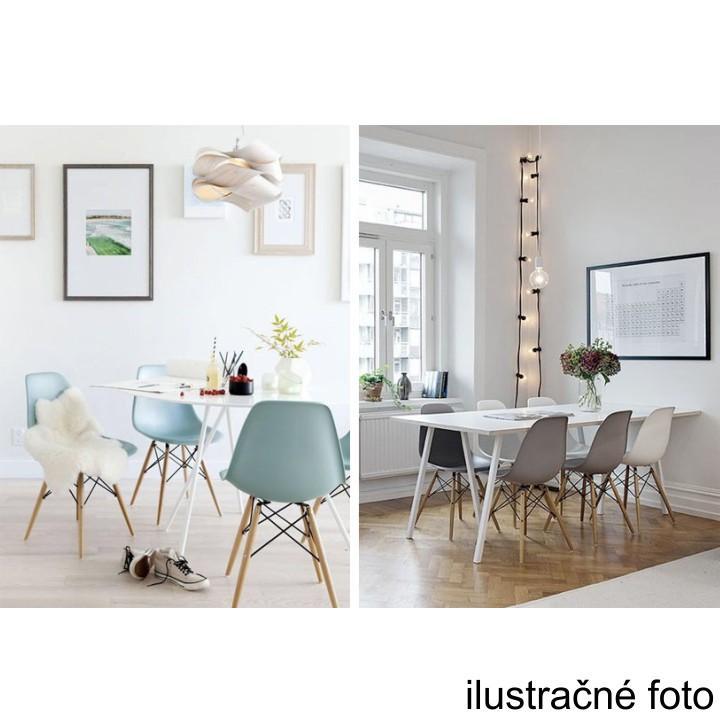 Stolička, tmavohnedá/buk, interiérový záber na stoličky, CINKLA 2 NEW
