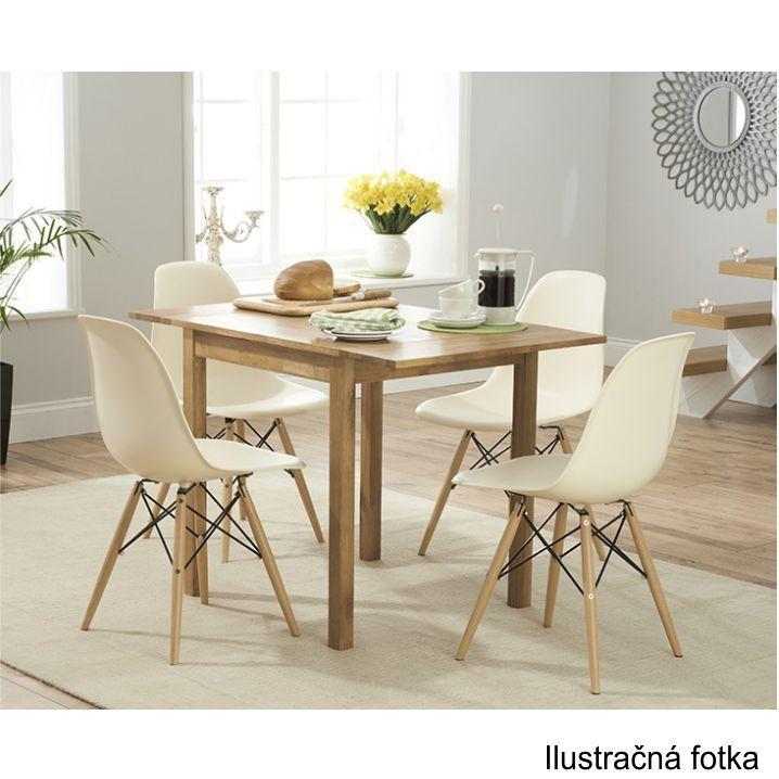 Stolička, tmavohnedá/buk, interiérový záber stoličiek, CINKLA 2 NEW