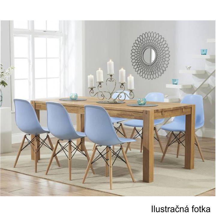 Stolička, tmavohnedá/buk, interiérová fotka stoličiek pri stole, CINKLA 2 NEW