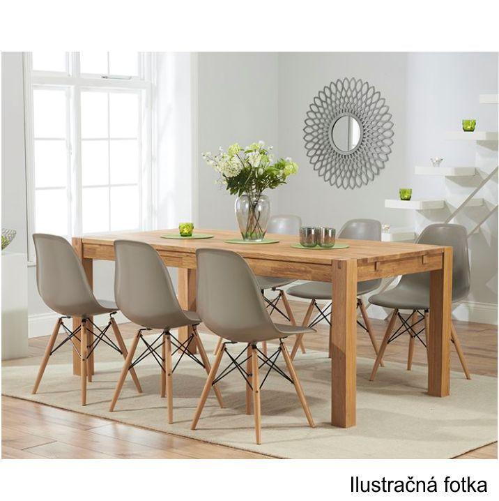 Stolička, tmavohnedá/buk, interiérová fotka, CINKLA 2 NEW