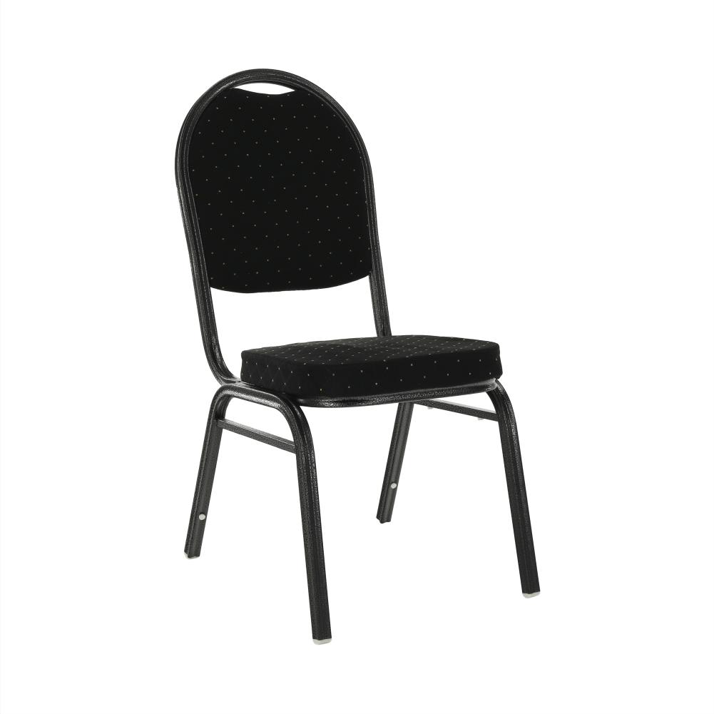 Scaun, ţesătură neagră/cadru gri, JEFF 2  NEW