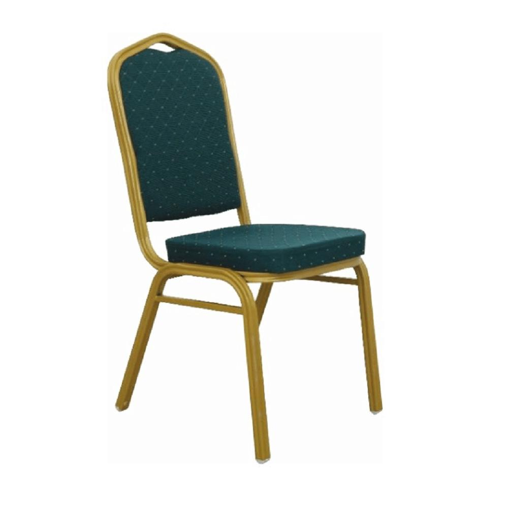 Rakásolható szék, zöld/matt arany keret, ZINA 2 NEW
