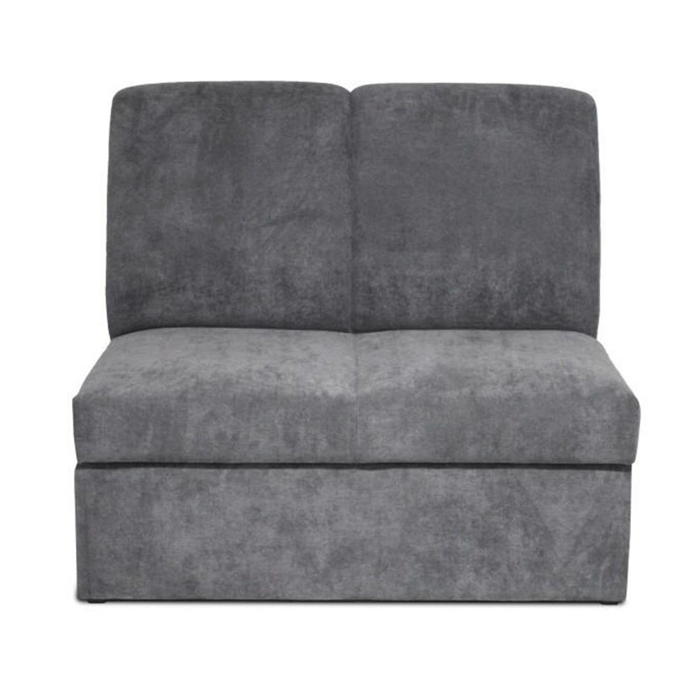 Dupla kanapé, szövet szürke, IZA NEW