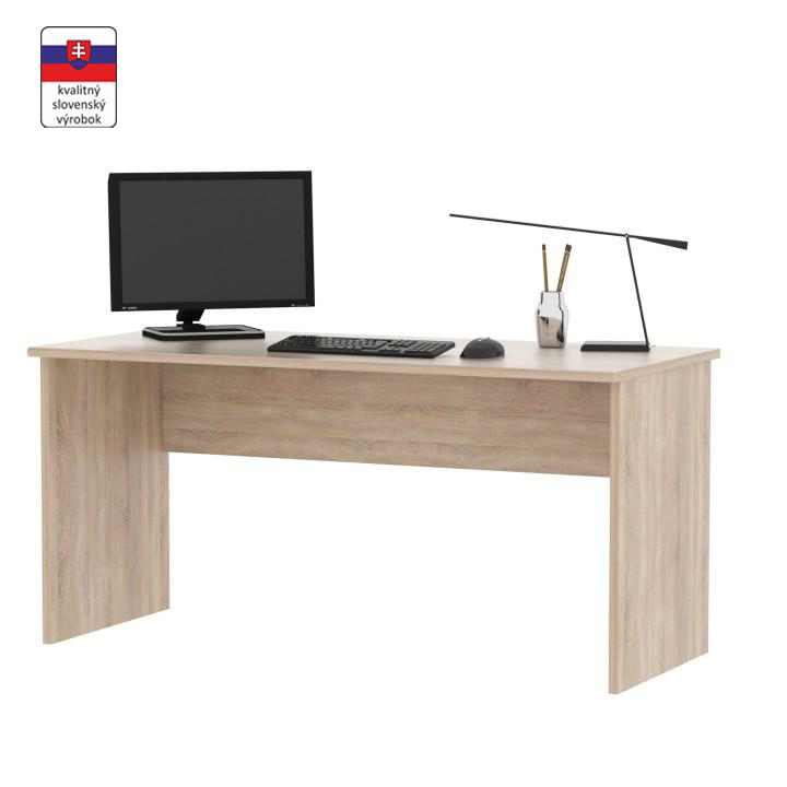 Písací stôl, dub sonoma,  DTD laminovaná, JOHAN NEW 01