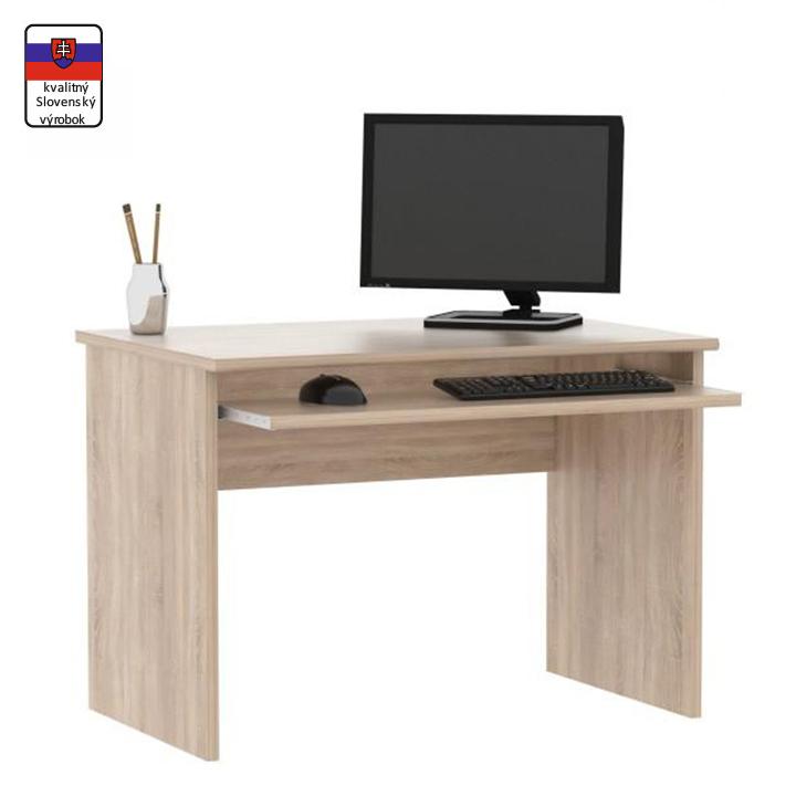 Písací stôl, dub sonoma,DTD laminovaná, na bielom pozadí, JOHAN NEW 02