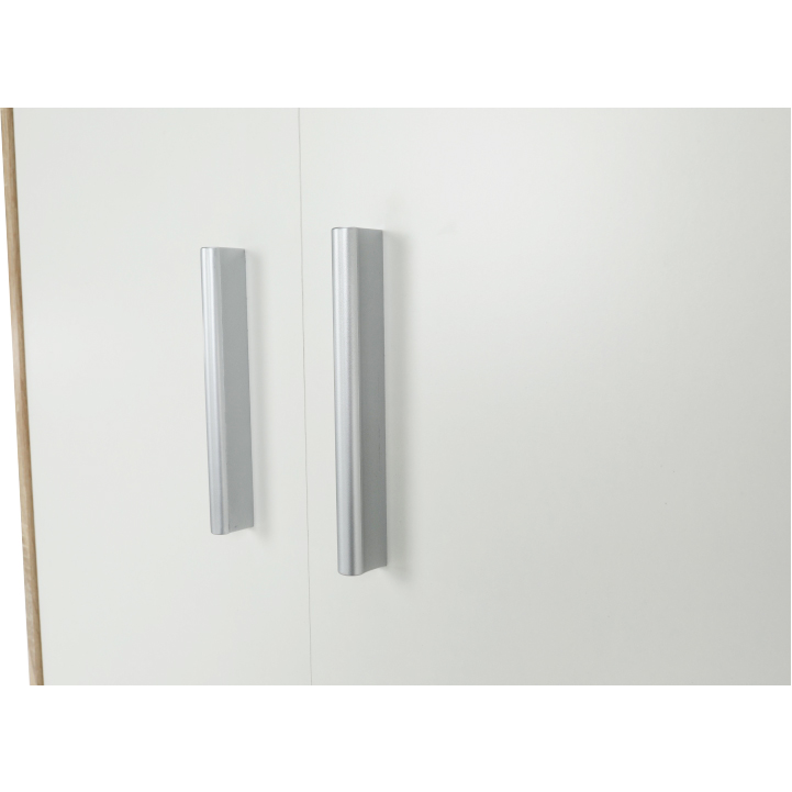 Kancelárska skriňa, dub sonoma/biela, JOHAN NEW 05, úchyty