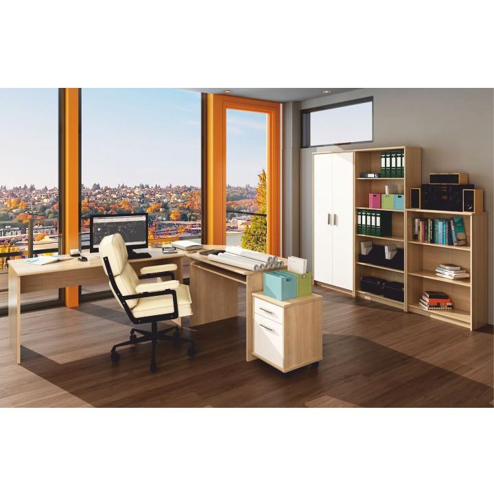 Kancelársky kontajner, dub sonoma/biela, interiérová fotka, JOHAN NEW 07