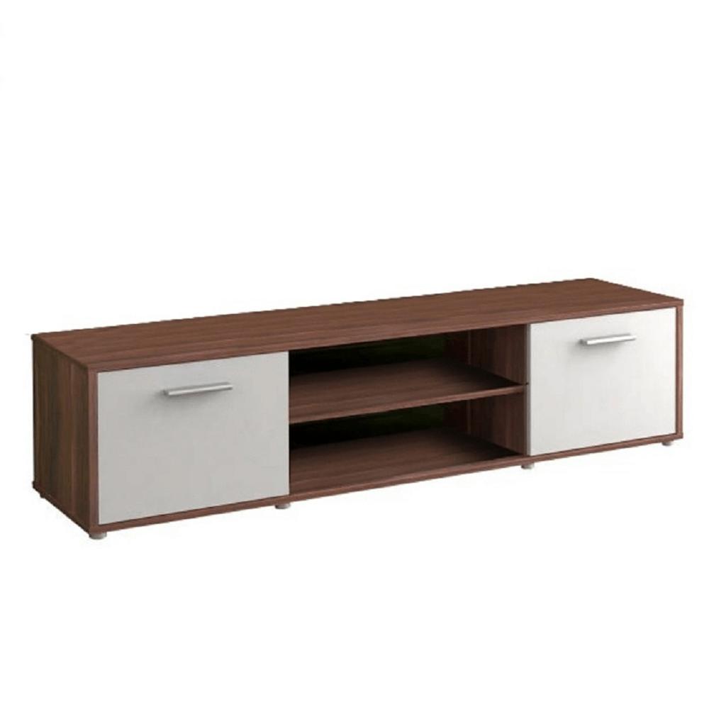 TV asztal, szilva/fehér, ZUNO NEW 01