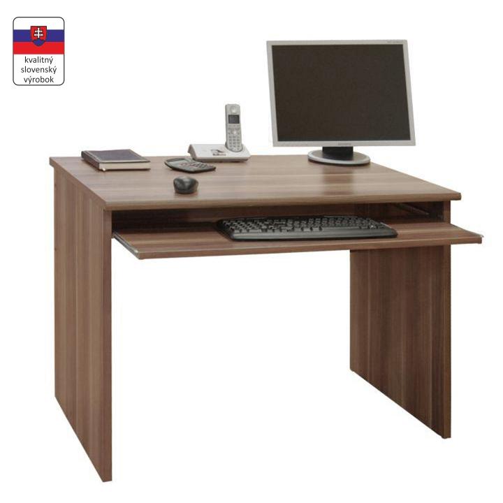 Písací stôl, DTD laminovaná, slivka, na bielom pozadí, JOHAN NEW 02