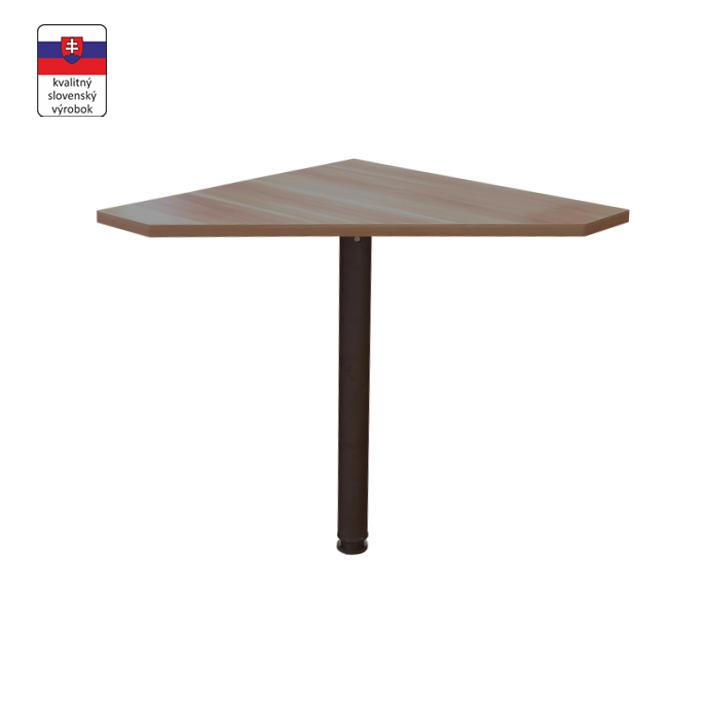 Rohový stolík, slivka/kov, na bielom pozadí, JOHAN NEW 06