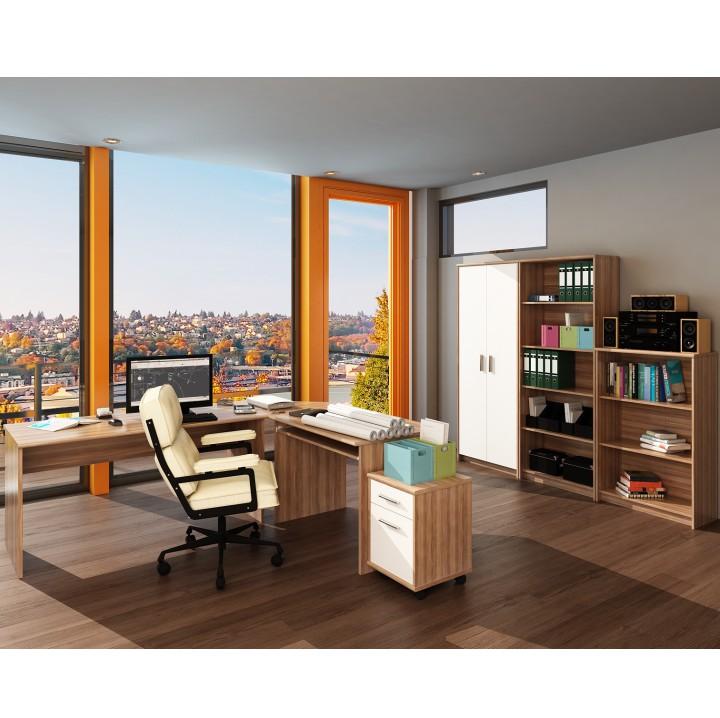 Kancelárska skrinka, slivka/biela, ilustračná fotka, JOHAN NEW 13 JH033