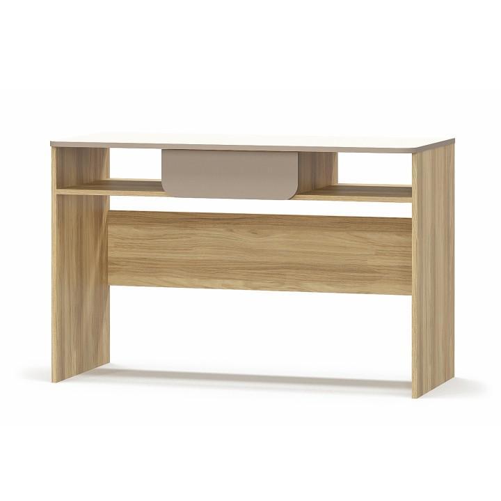 PC stôl 1S/120, DTD laminovaná, dub jačmenný/champagne/capucino, na bielom pozadí, LOTTY