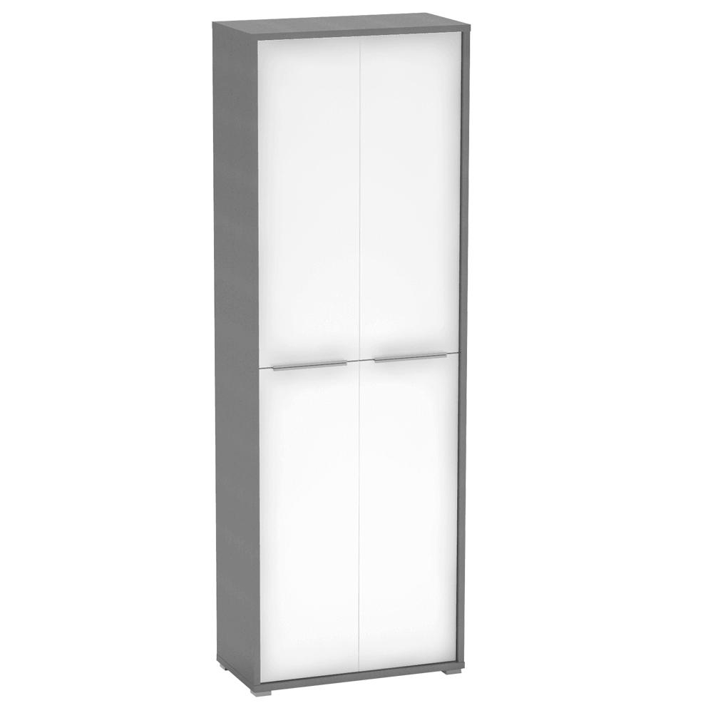 Magas polcos szekrény, grafit/fehér, RIOMA  05
