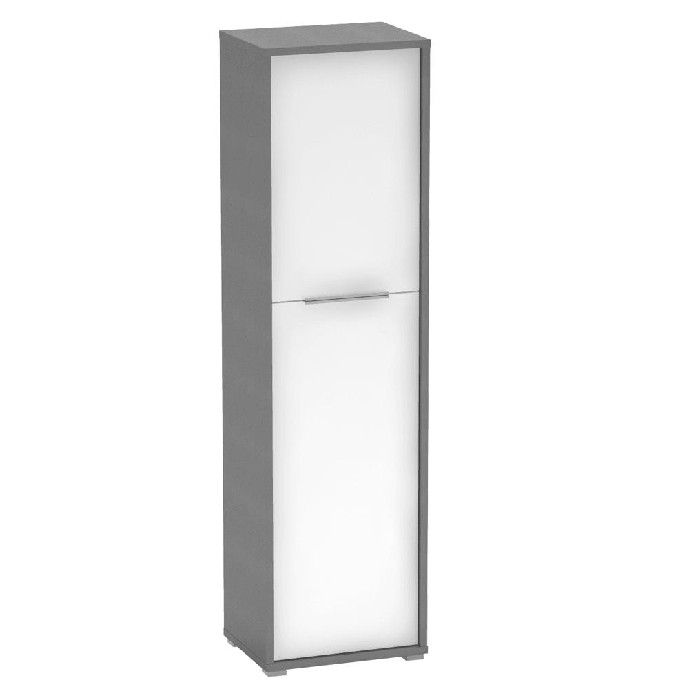 Polcos szekrény, grafit/fehér, RIOMA NEW TYP 08
