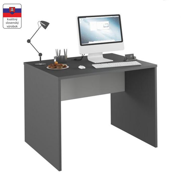 PC stôl, grafit/biela, RIOMA TYP 12, na bielom pozadí