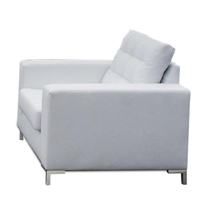 Celočalunené kreslo, ekokoža biela, ORAGION