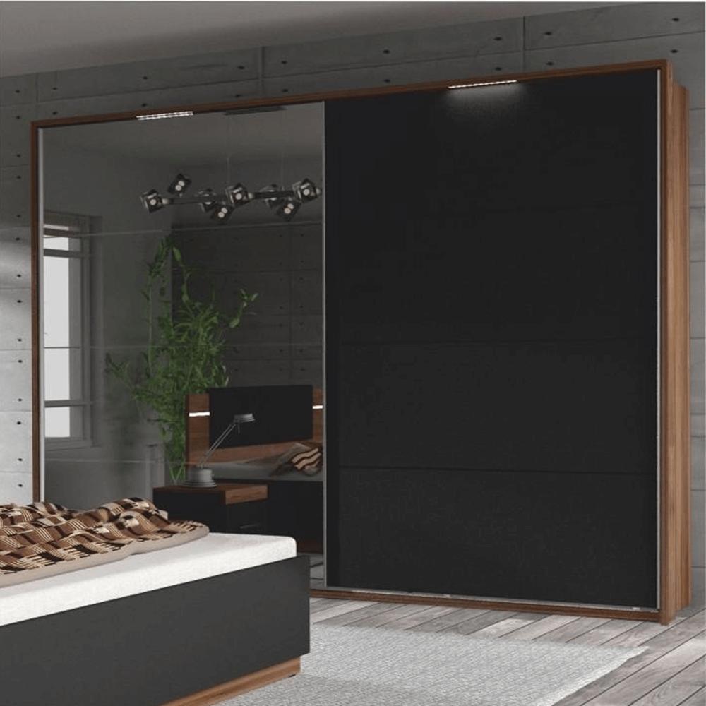 Cadru din lemn cu LED iluminat la dulapul DEGAS