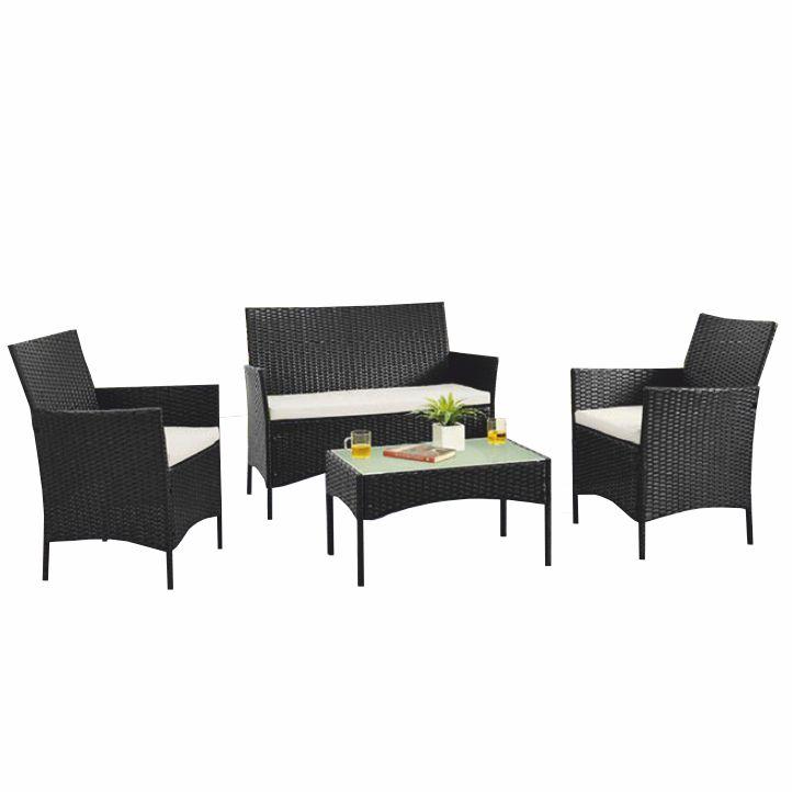 Záhradný set, dvojsed+2x kreslo+konferenčný stôl, ratan, tmavohnedá/krémová, RATTY, na bielom pozadí