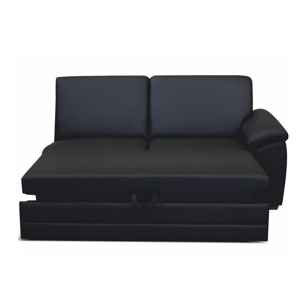 3 ülés háttámlával és kihúzható, ökobőr fekete, jobb, BITER 3 1B ZF
