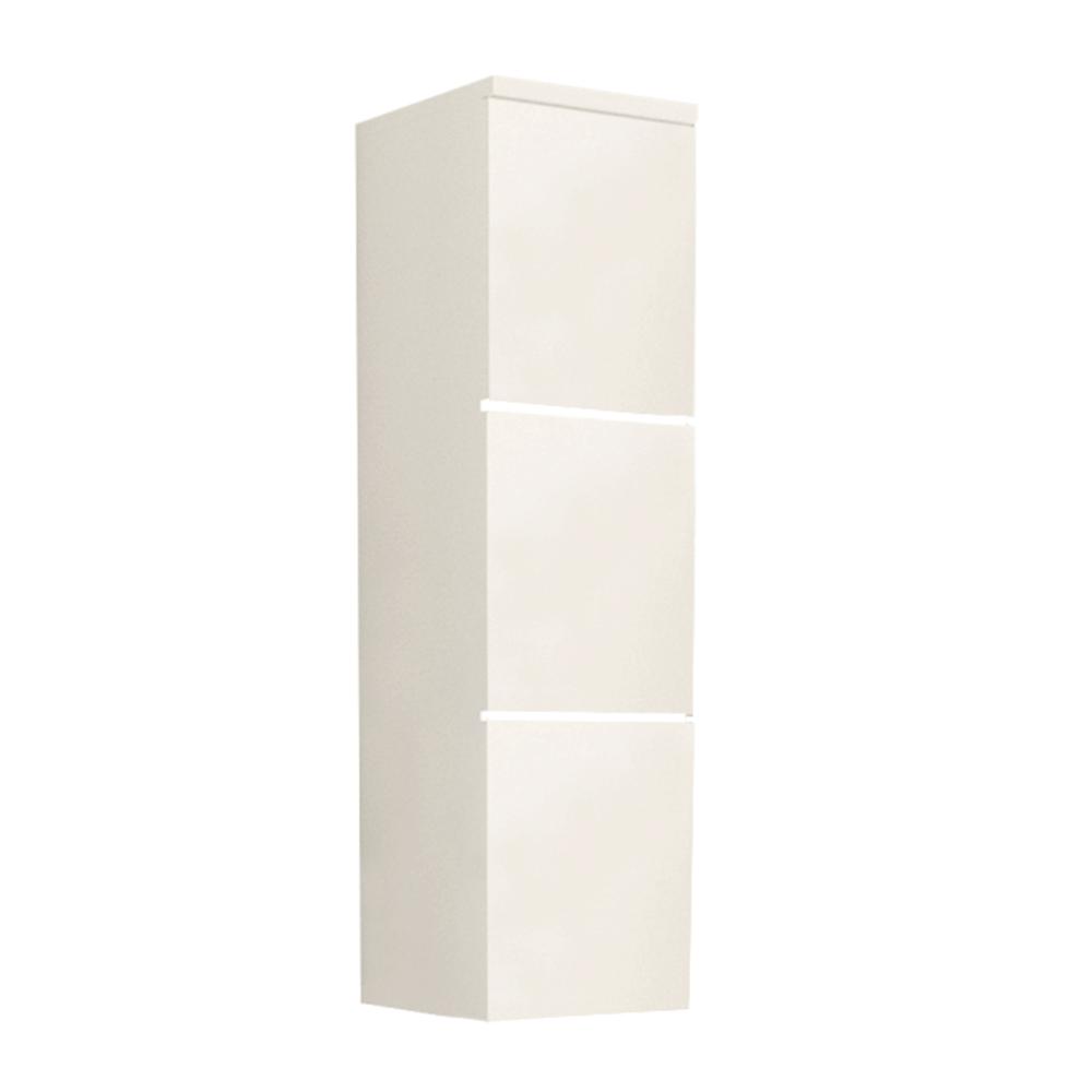 Magas fürdőszoba szekrény, fehér/magasfényű fehér HG, MASON WH11