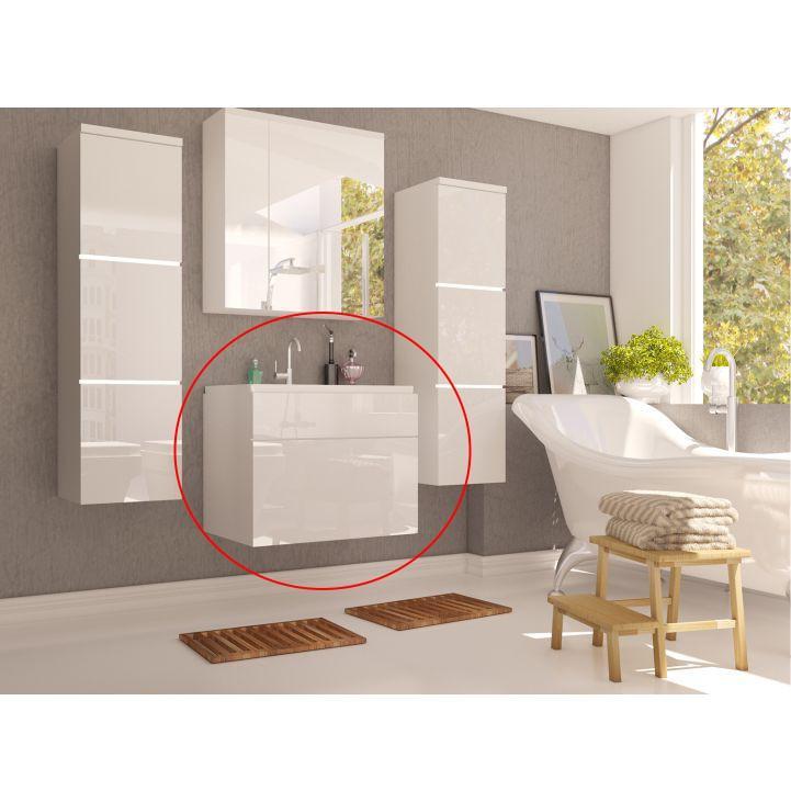 Skrinka pod umývadlo, biela/biely HG, MASON WH 13