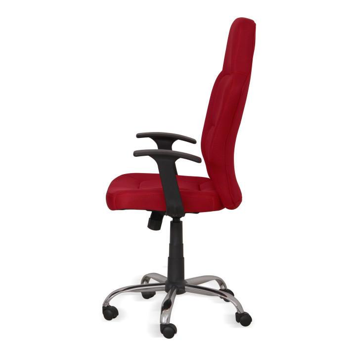 Kancelárske kreslo, červené, VAN - detail z bočnej strany