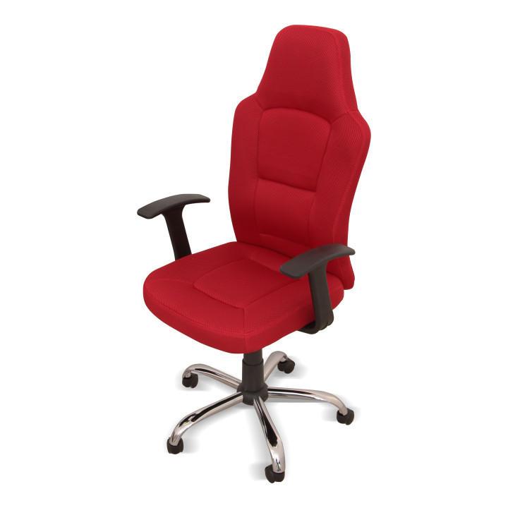 Kancelárske kreslo, červené, VAN - predná strana kresla