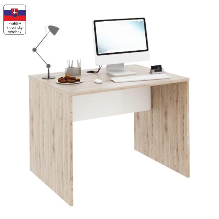 PC stôl, san remo/biela, RIOMA TYP 12, na bielom pozadí