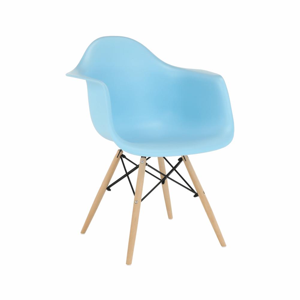 Fotel, kék/bükk, DAMEN NEW