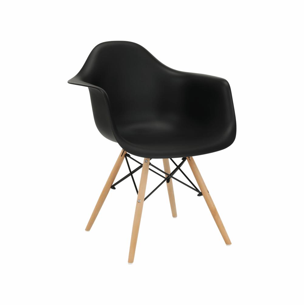 Fotel, fekete/bükk, DAMEN NEW