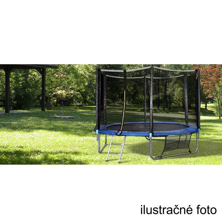 Trampolína s ochrannou sieťou a rebríkom, 252 cm, modrá/čierna, ilustračná fotka, JUMPY 2