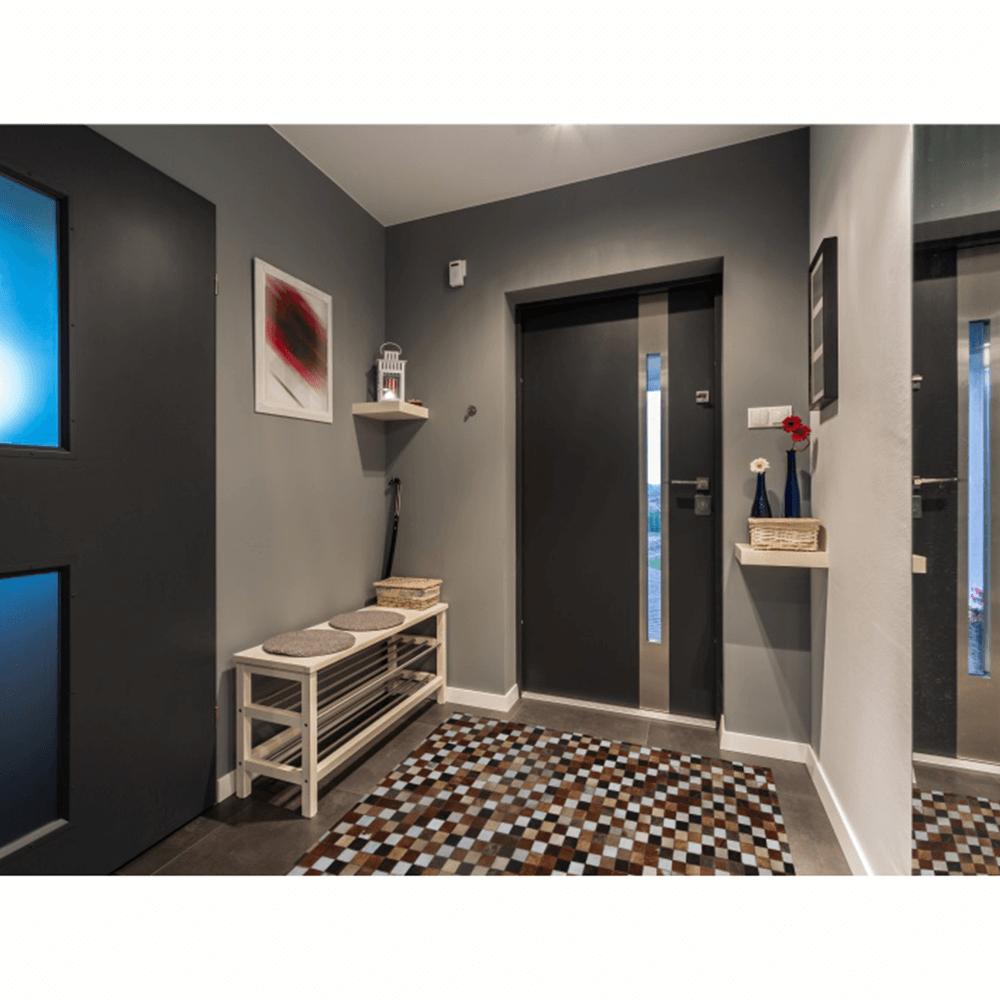 Luxus Bőrszőnyeg, barna /fekete/fehér, patchwork, 80x144, bőr TIP 3