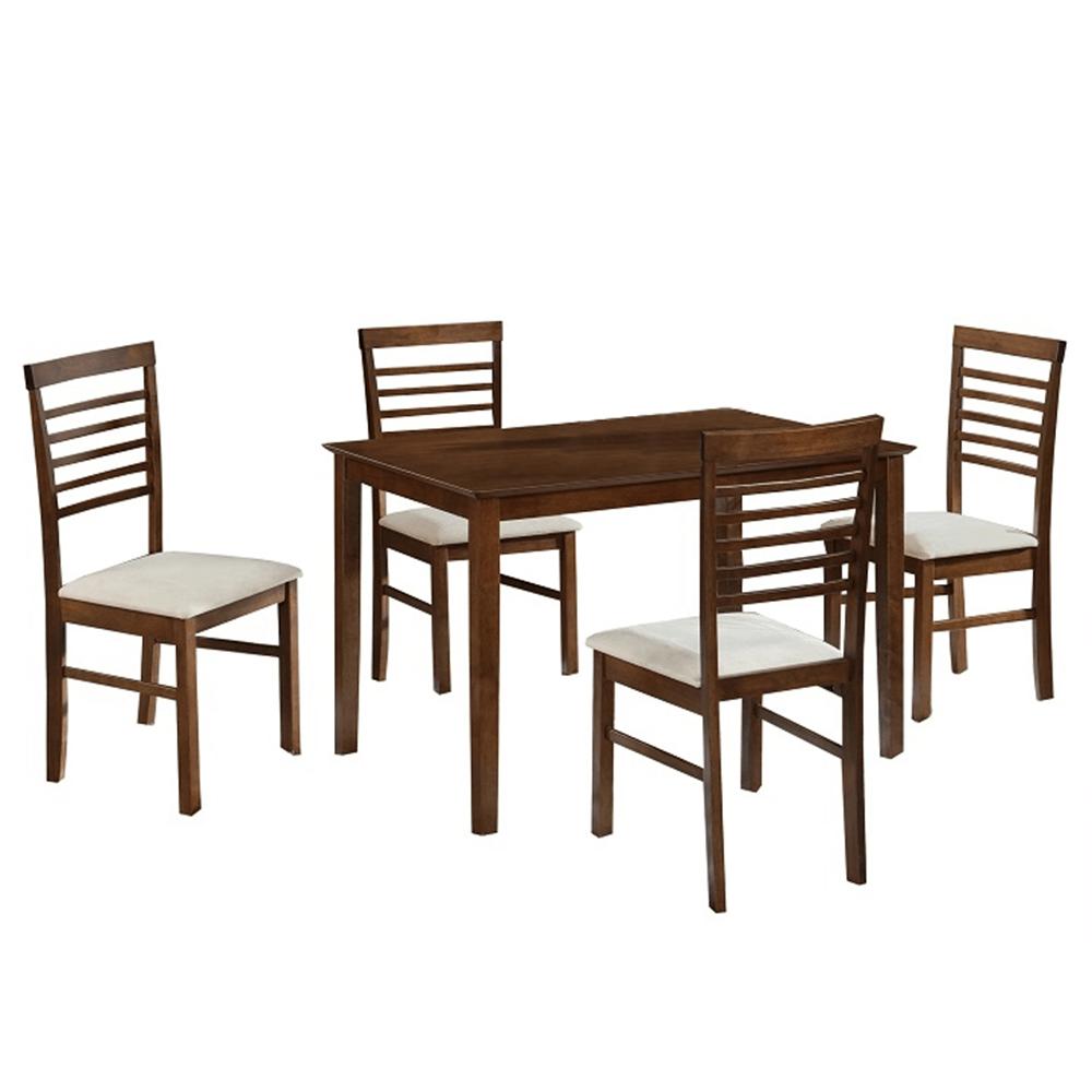 Set dining, MDF nuc/material bej, BRISBO 1+4