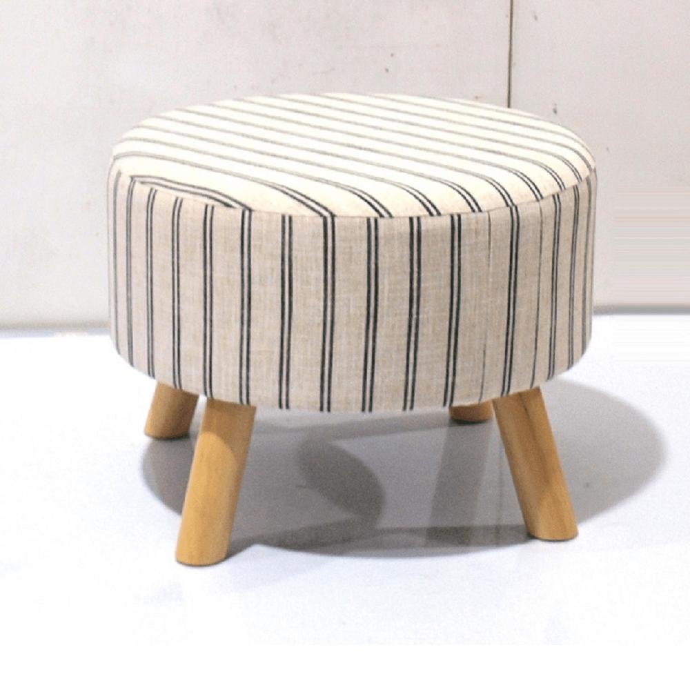 Ülőke, bézs anyag, nyomtatott textil/fa, RONDA