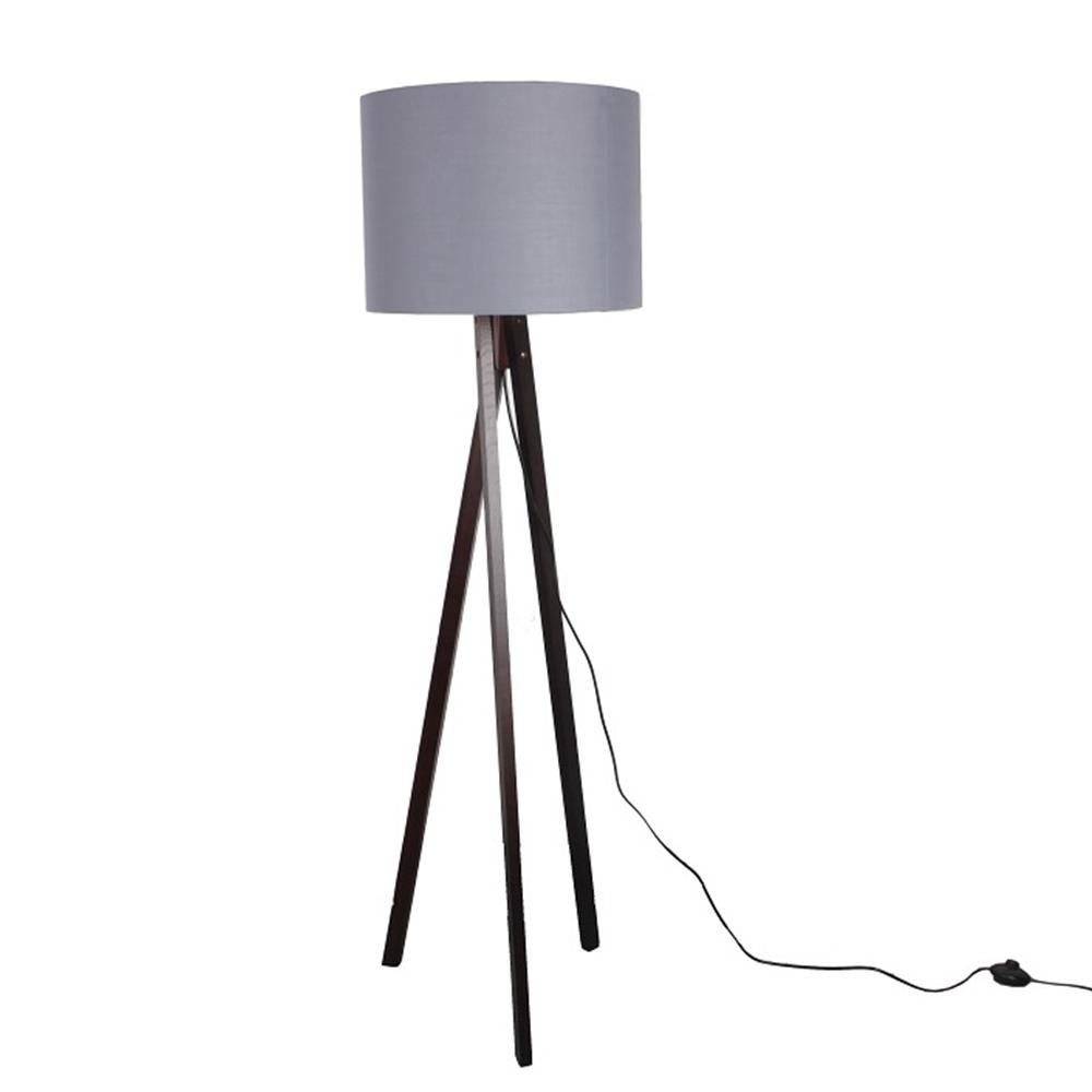 Lampă pe picior, gri/lemn negru, LILA TYP 10